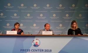 Пресс-конференция  цветы 2018 ФУТБОЛ